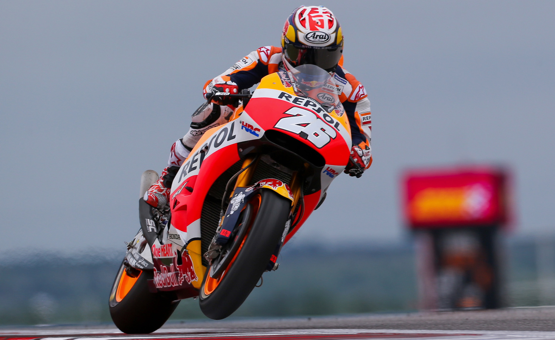 MotoGP Red Motorcycle Repsol #26